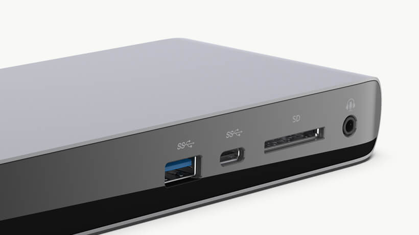 Close-up of the Belkin Thunderbolt 3 Dock Pro