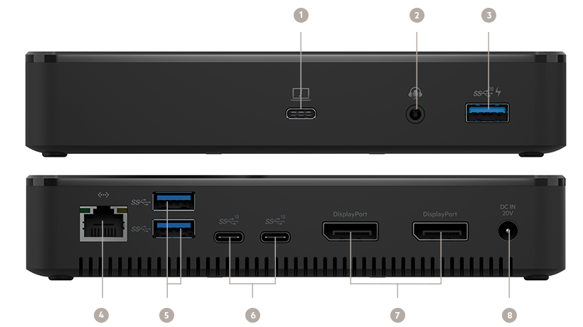 Belkin Thunderbolt 3 Dock Plus ports