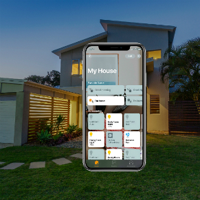iPhone with House in Background