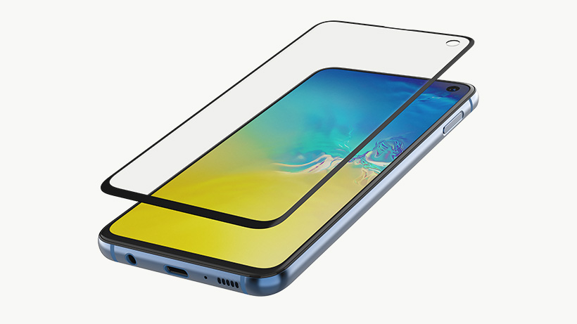 SCREENFORCE™ TemperedCurve Screen Protection for Samsung Galaxy S10e key features