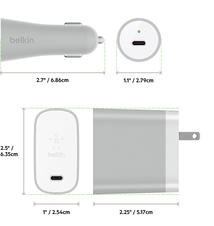 usb-c™ home + car charge kit (usb type-c™) belkin tv diagram #5