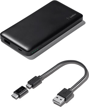 Batería externa Pocket Power 5K + adaptador de USB-C a micro-USB