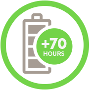 70 Hours of Battery Icon