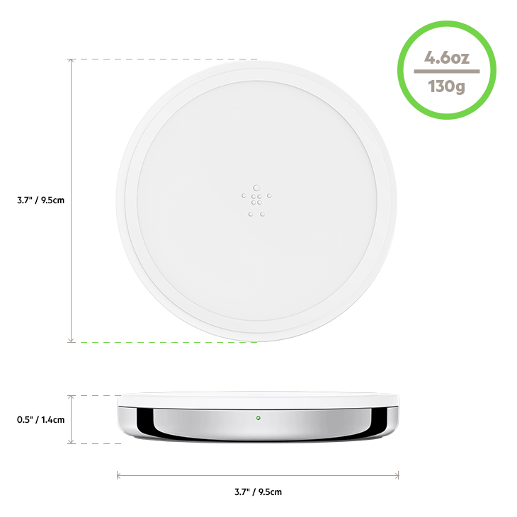 BOOST↑UP™ Special Edition Wireless Charging Pad diagram
