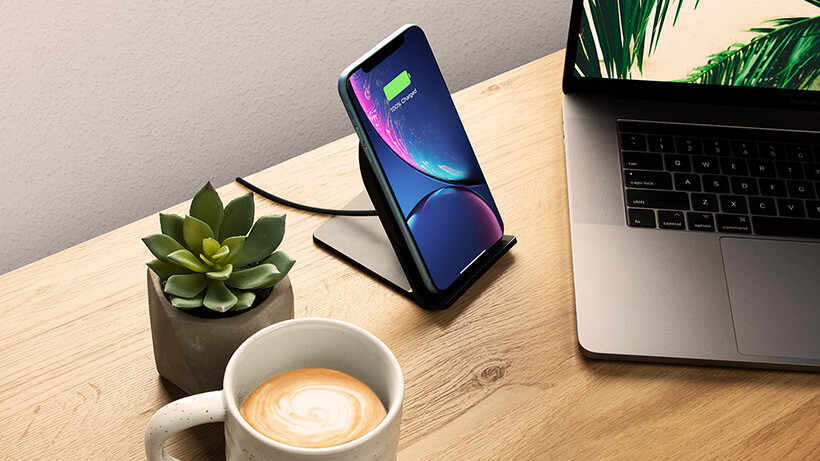 BOOST↑UP™ Wireless Charging Stand on a desk