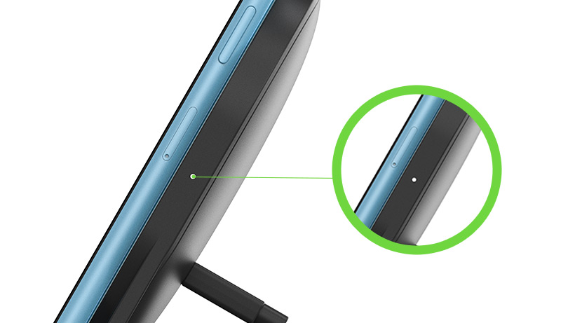 Close up of LED light on the BOOST↑UP™ Wireless Charging Stand