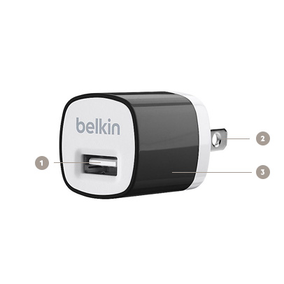 Belkin 5-Watt MIXIT↑™ USB Home Charger - Diagram