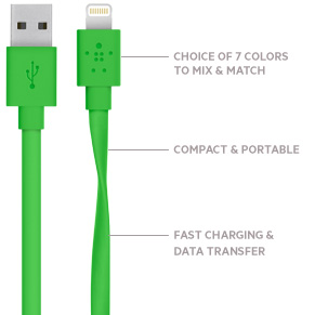 MIXIT↑ Flat Lightning™ to USB Cable