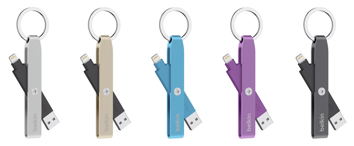 Lightning-to-USB keychain