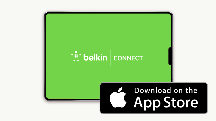 Iconos de Belkin Connect y App Store