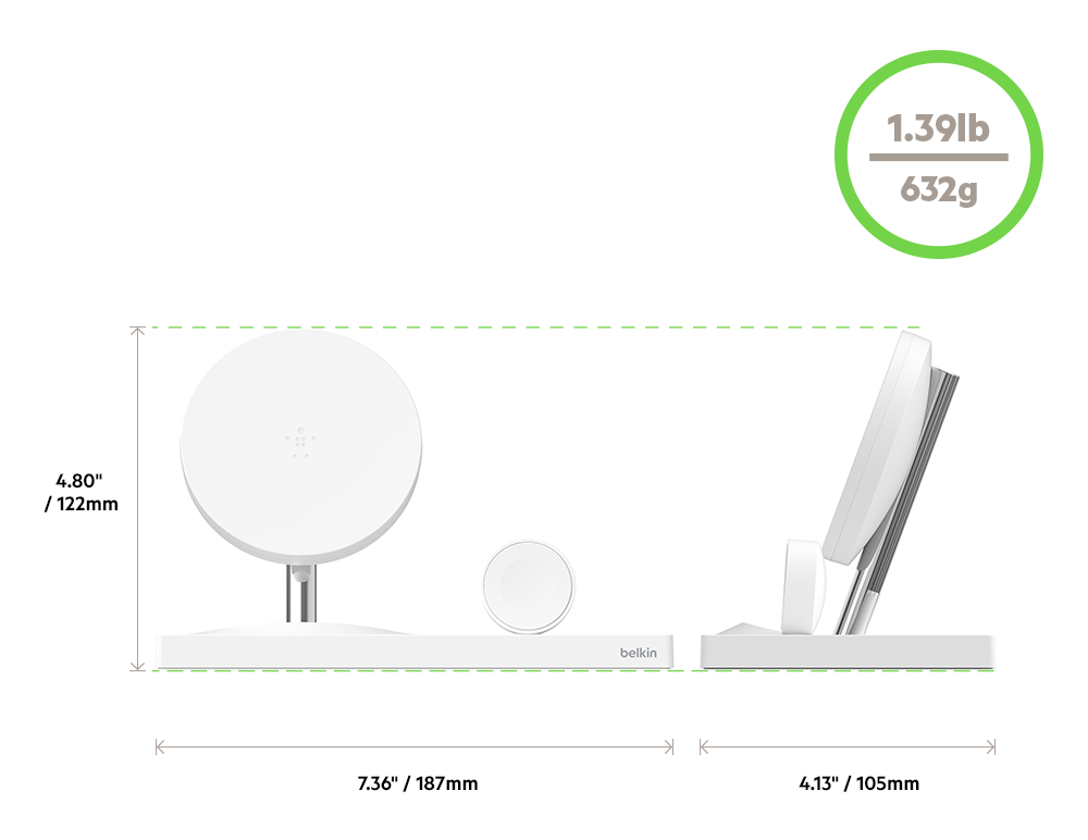 Wireless Charging Dock Dimensions