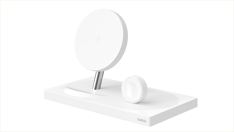 White BOOST↑UP Wireless Charging Dock