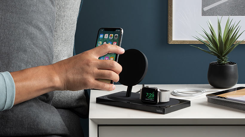 2 in 1 Wireless Charger Dock Station