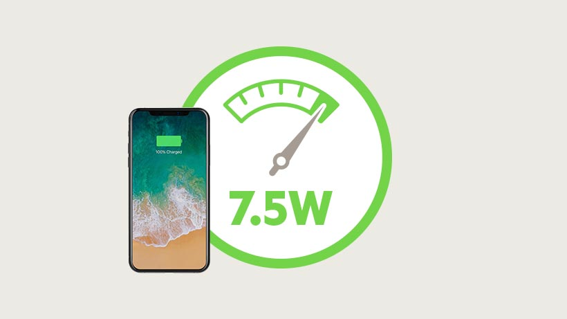 7.5 watts charging icon