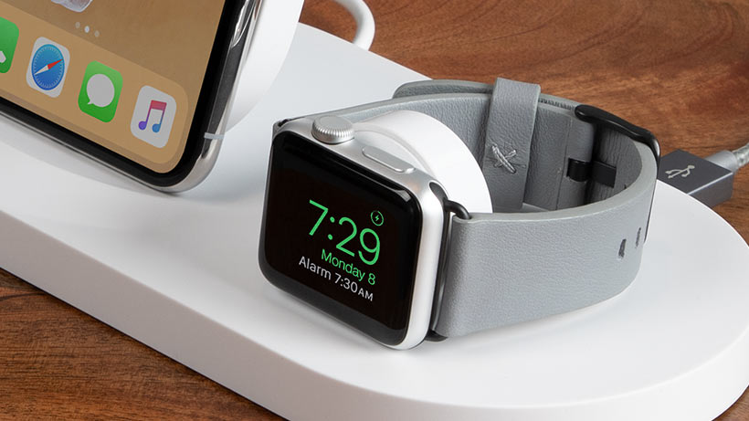 Closeup of Apple Watch on dock