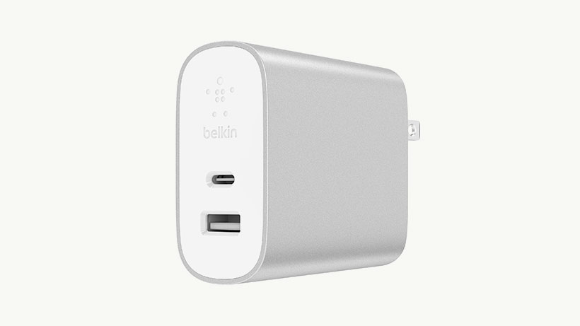 Belkin BOOST↑CHARGE 18W USB-C + 12W USB-A Home Charger