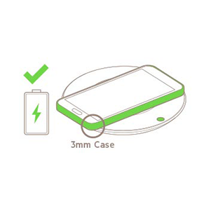 No need to remove your device from its case as the charger