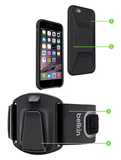Clip-Fit iPhone 6/6s Removed From Armband