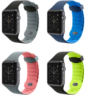 The Sport Band comes in a choice of four sporty colors