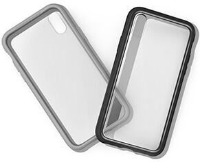 The case's material has been engineered for clarity and is UV-resistant