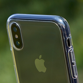 Defensa fina y transparente para iPhone X