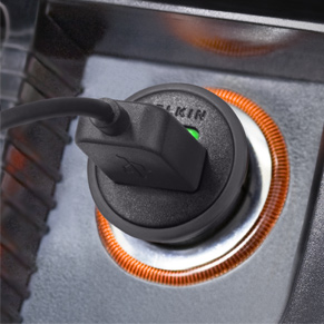 Car Charger with 30-Pin to USB Cable for iPhone