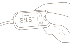 TuneCast In-Car 3.5mm to FM Transmitter Diagram