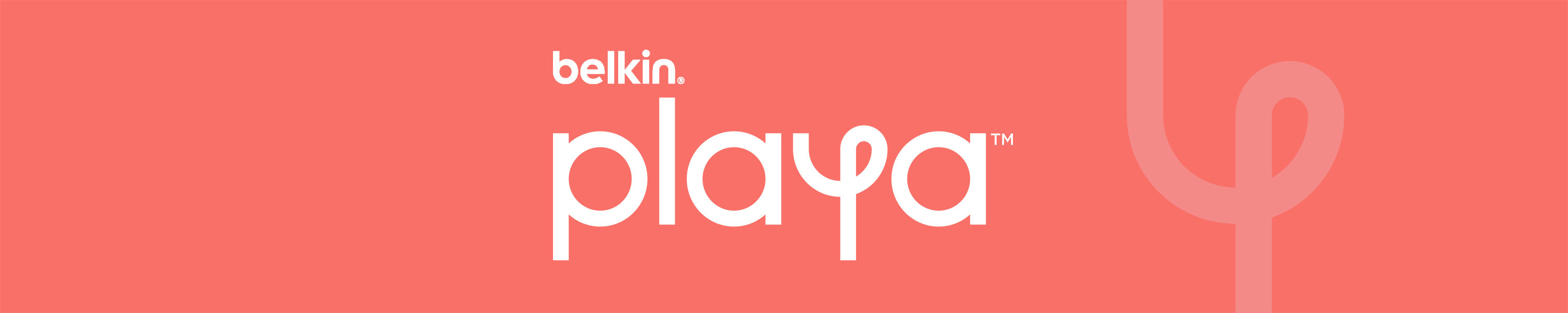 Playa logo on a colored background