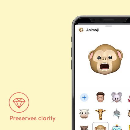Chat emojis with crystal clarity icon overlaid