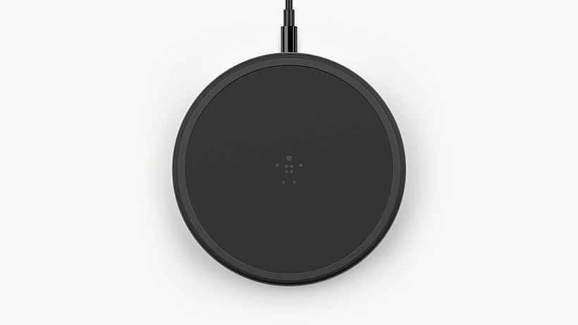 Top down view of the BOOST↑CHARGE Wireless Charging Pad