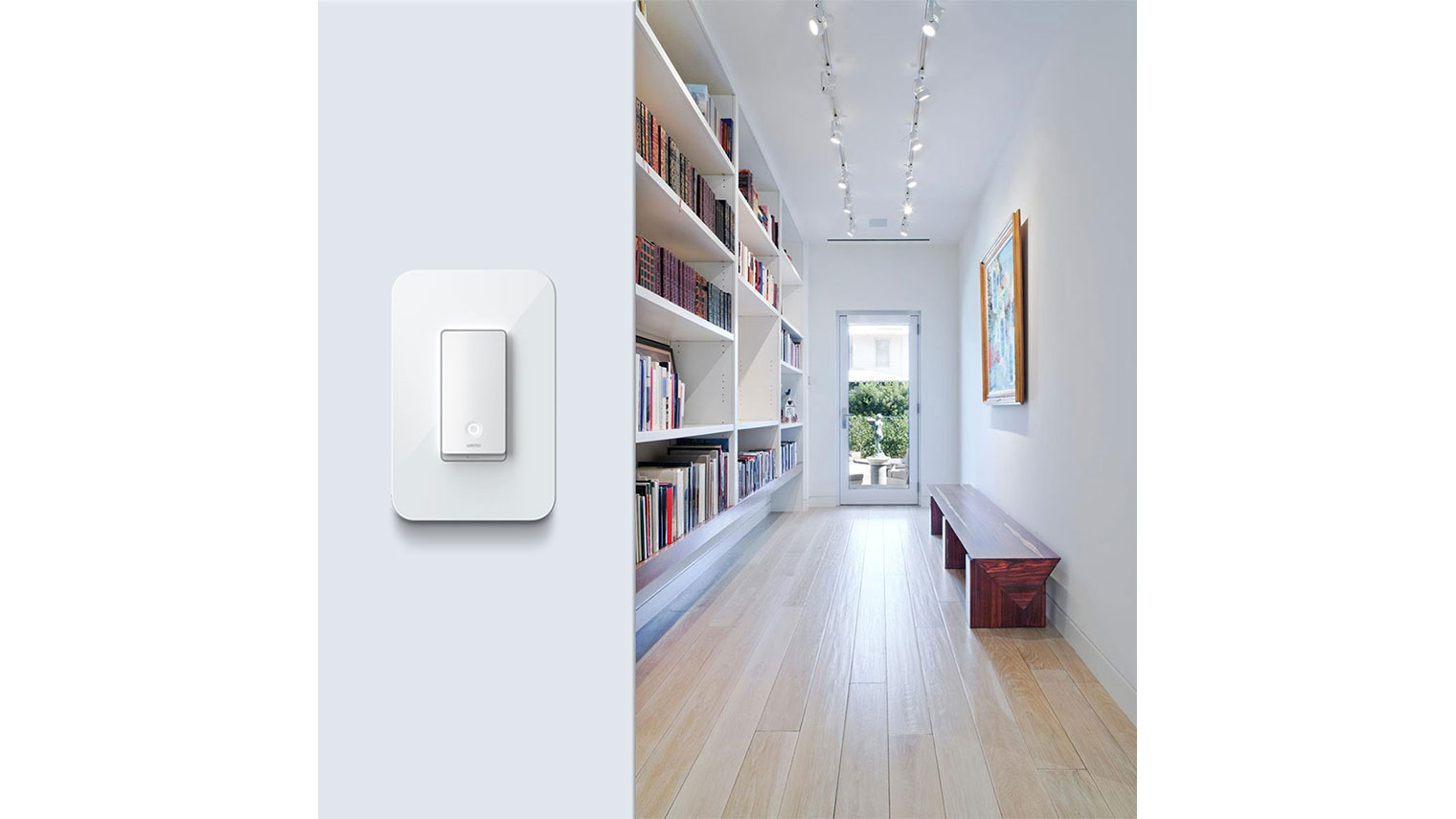 Wemo Light Switch 3-Way at the end of a hallway