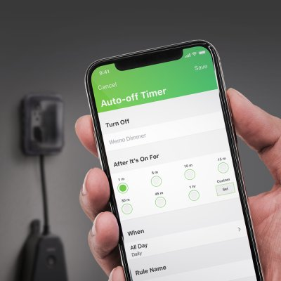 Auto-off Timer shown within the Wemo app