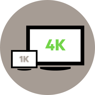 Ultra-HD 4K video resolution