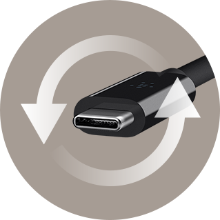 Il connettore dell'USB-C è reversibile