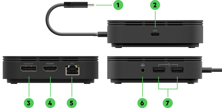 Back of Belkin Thunderbolt™ 3 Dock Core featuring ports