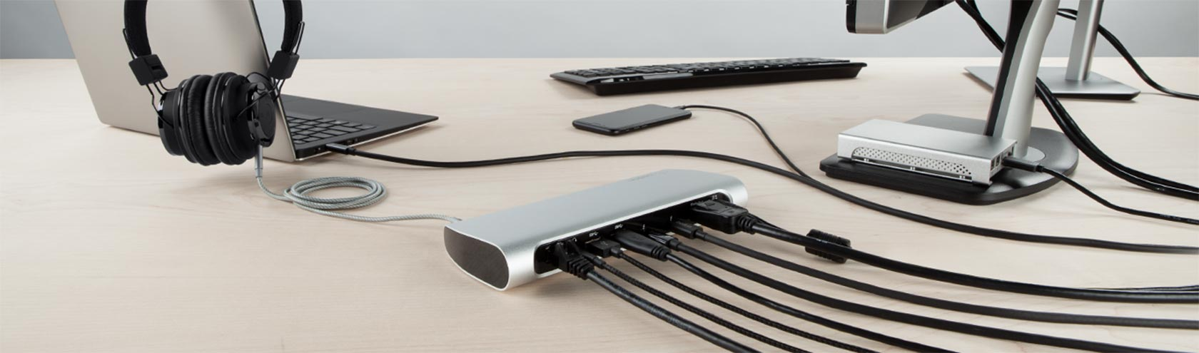 Belkin Thunderbolt 3 Express Dock HD streamlines workspace by connecting up to 8 separate devices