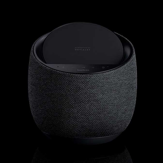 Belkin G1S0001 Soundform Elite Smart Speaker image, black, front view