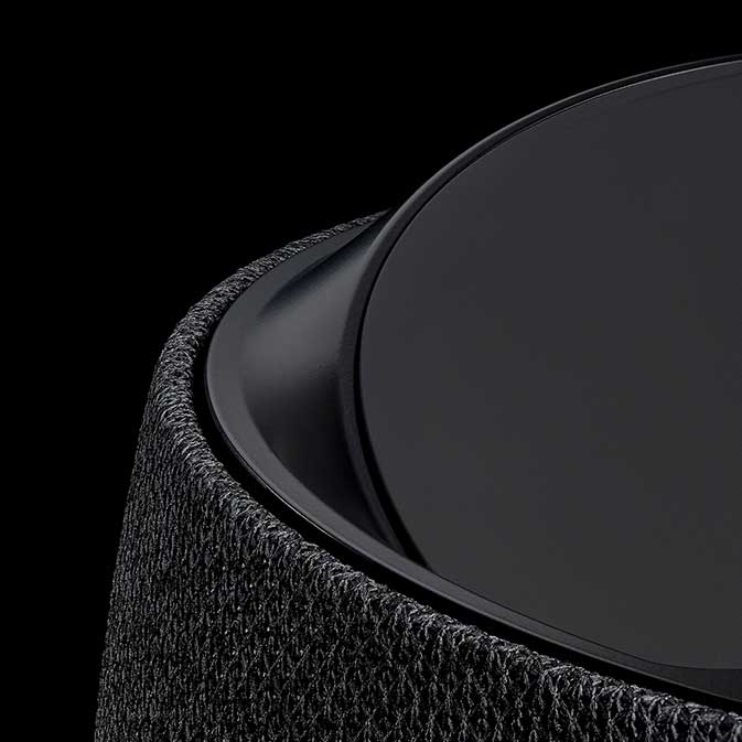 Belkin G1S0001 Soundform Elite Smart Speaker image, black, close-up view