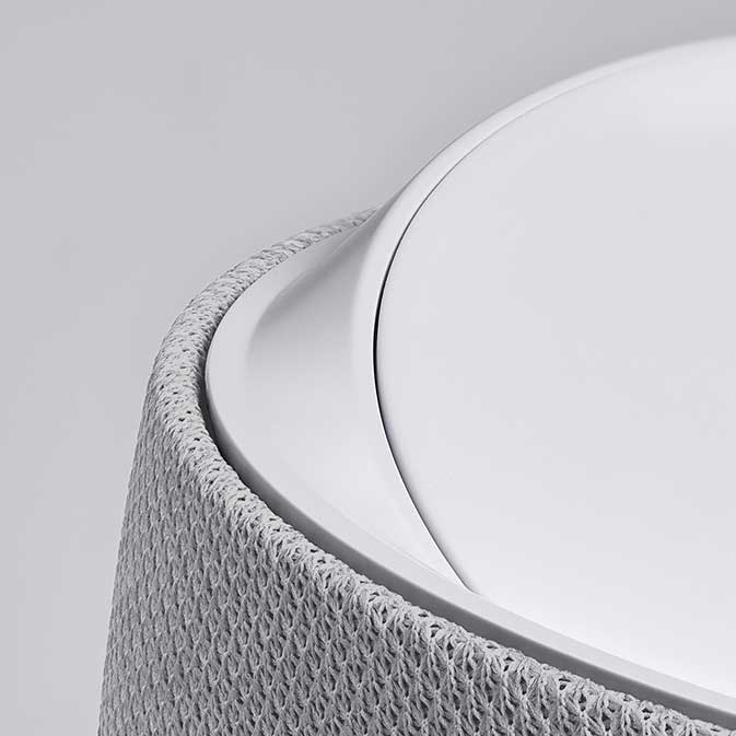 Belkin G1S0001 Soundform Elite Smart Speaker image, white, close-up view