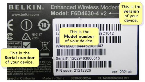 Router product numbers